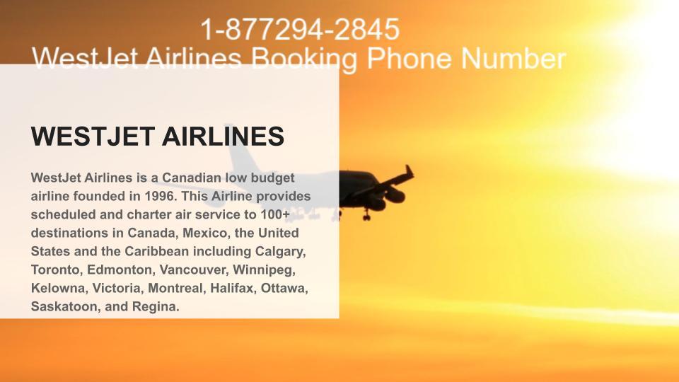 WestJet Airline Manage Online Booking