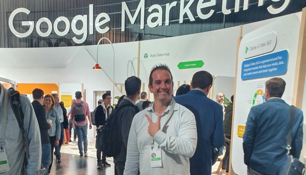 Colling Media CEO Brian Colling attends Google Marketing Live 2019