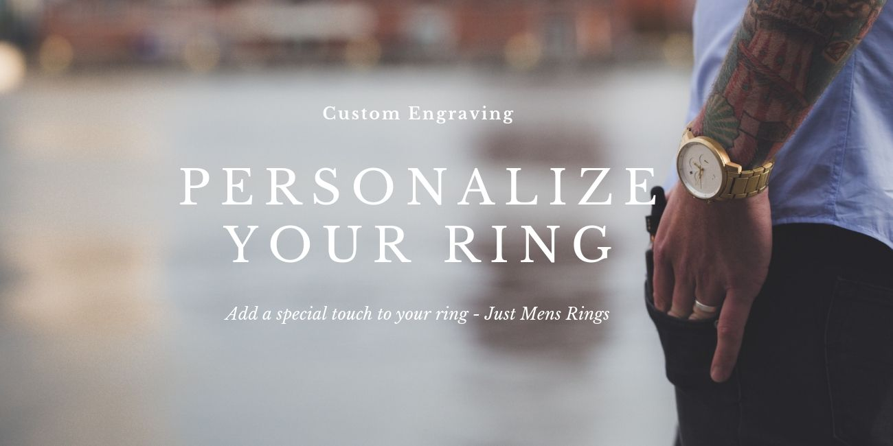 Just Mens Rings  Offers Engraving