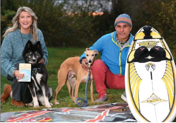 Lorenzo and Amanda Cubeddu with their dogs