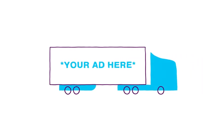 Commoot places advertisements on the unused white space on trucking trailers reaching more consumers in noninvasive ways