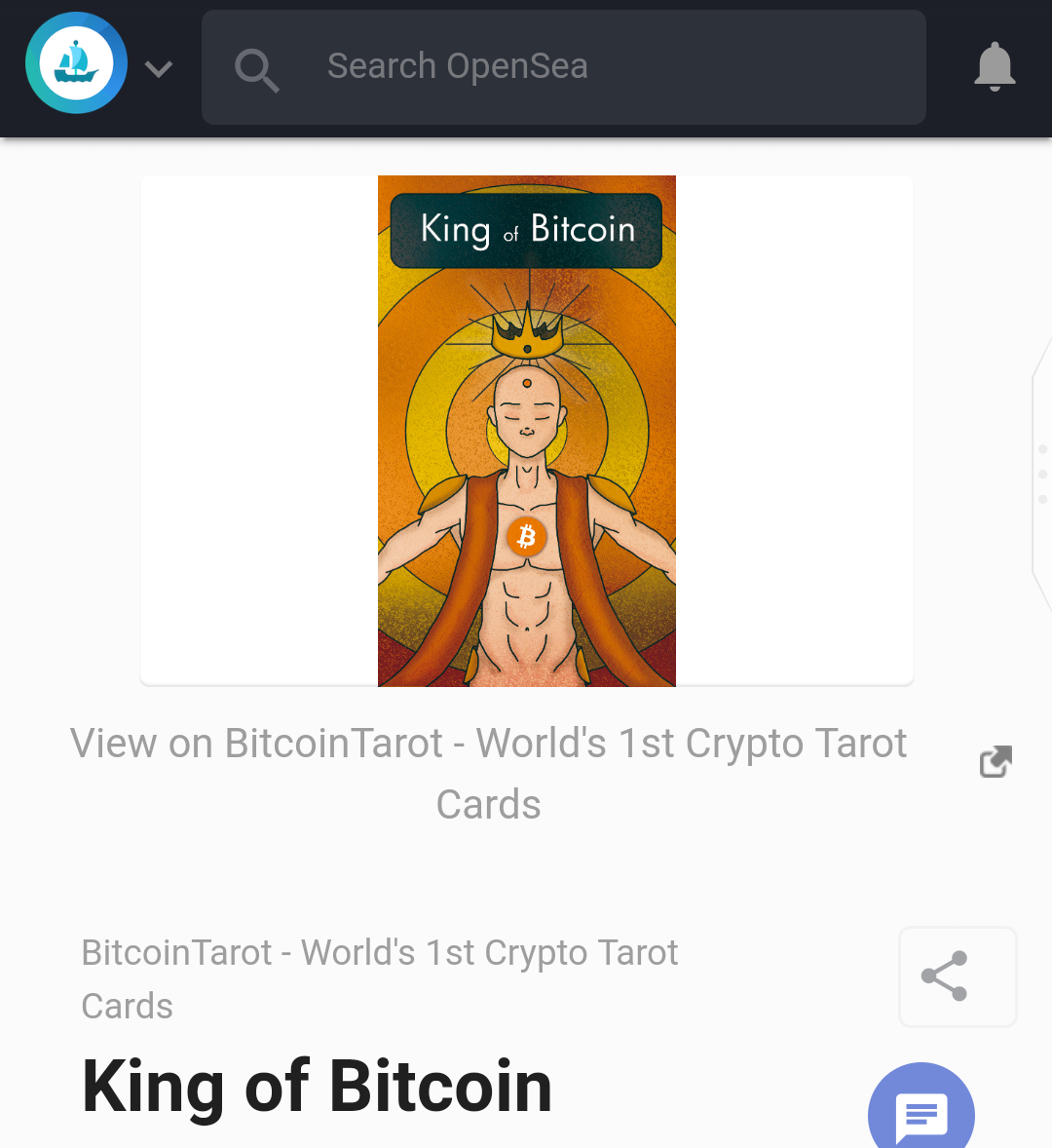King of Bitcoin digital collectible