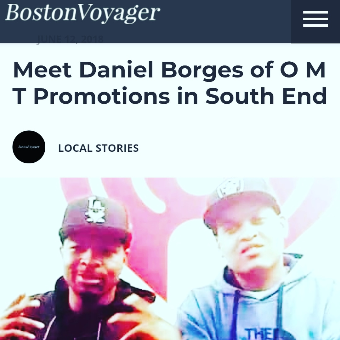 Appearing in the Boston Voyager with his mentor DJ Money Mav from JAM