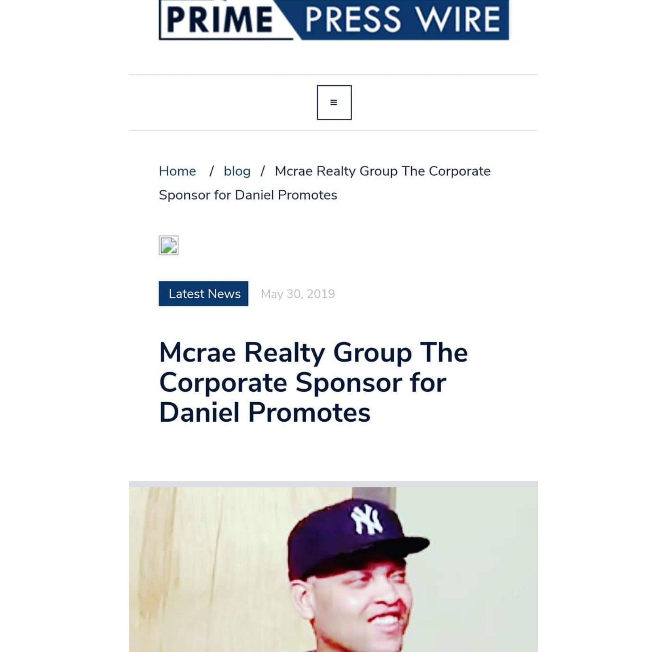 Daniel Borges has press about him for his real estate and promotion work