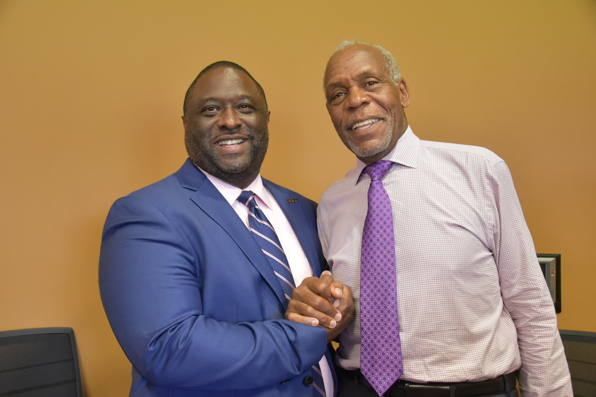 Actor Danny Glover and BRCC Chancellor Photo Credit C Major