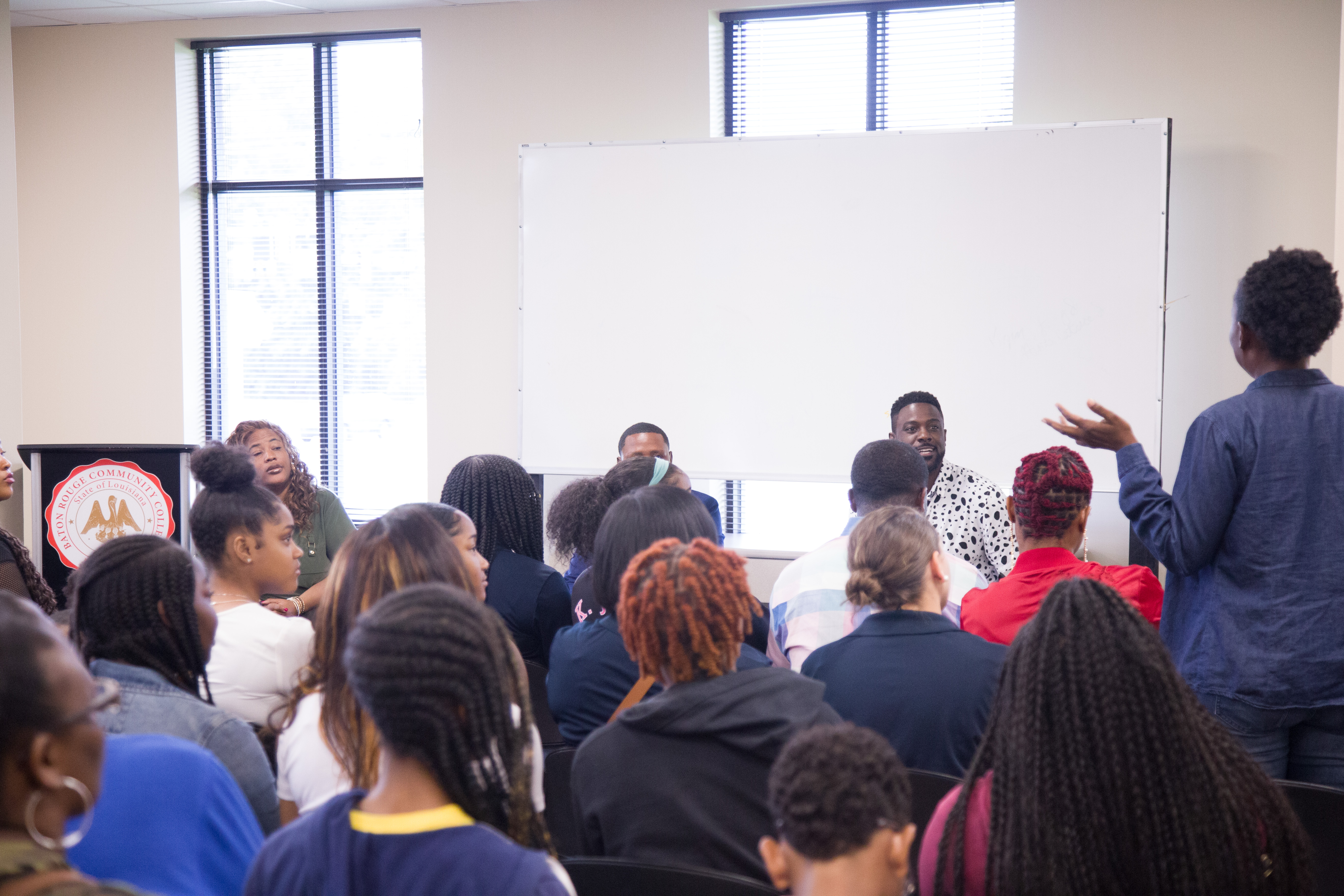 Actor Lance Gross and Celebrity Publicist Love Logan Master Class Photo Credit Andrew Tennison