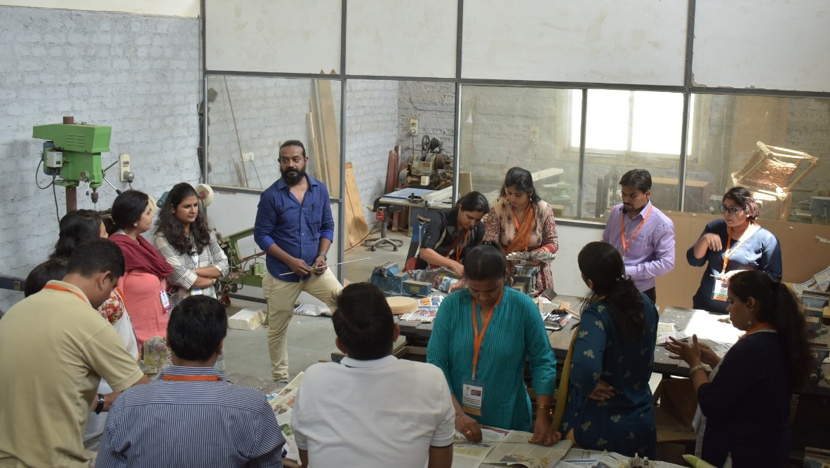 Faculty undergoing ecofriendly activity session