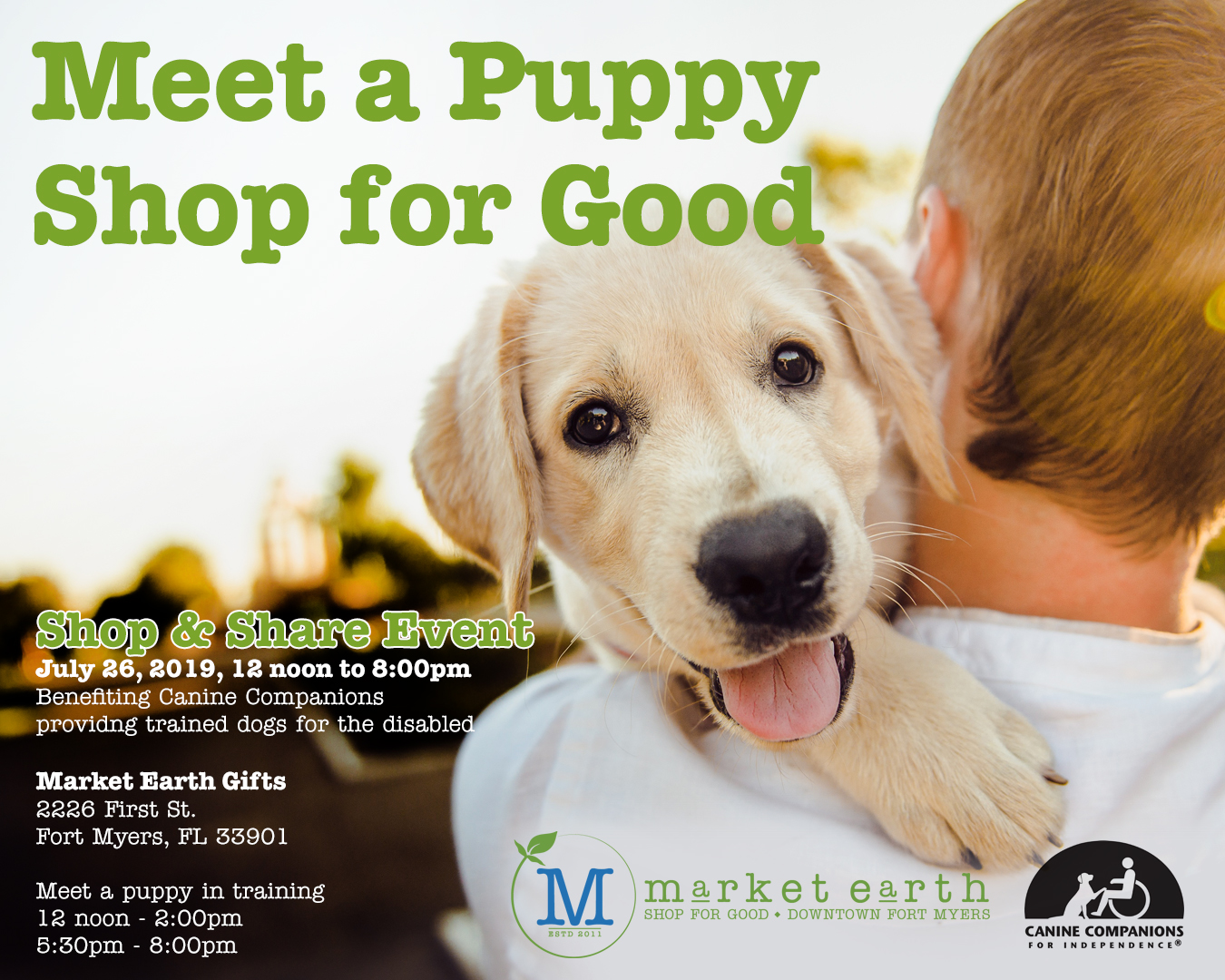 Market Earth Gift Shop to Host Shop  Share Event Benefiting Canine Companions for Independence July 26