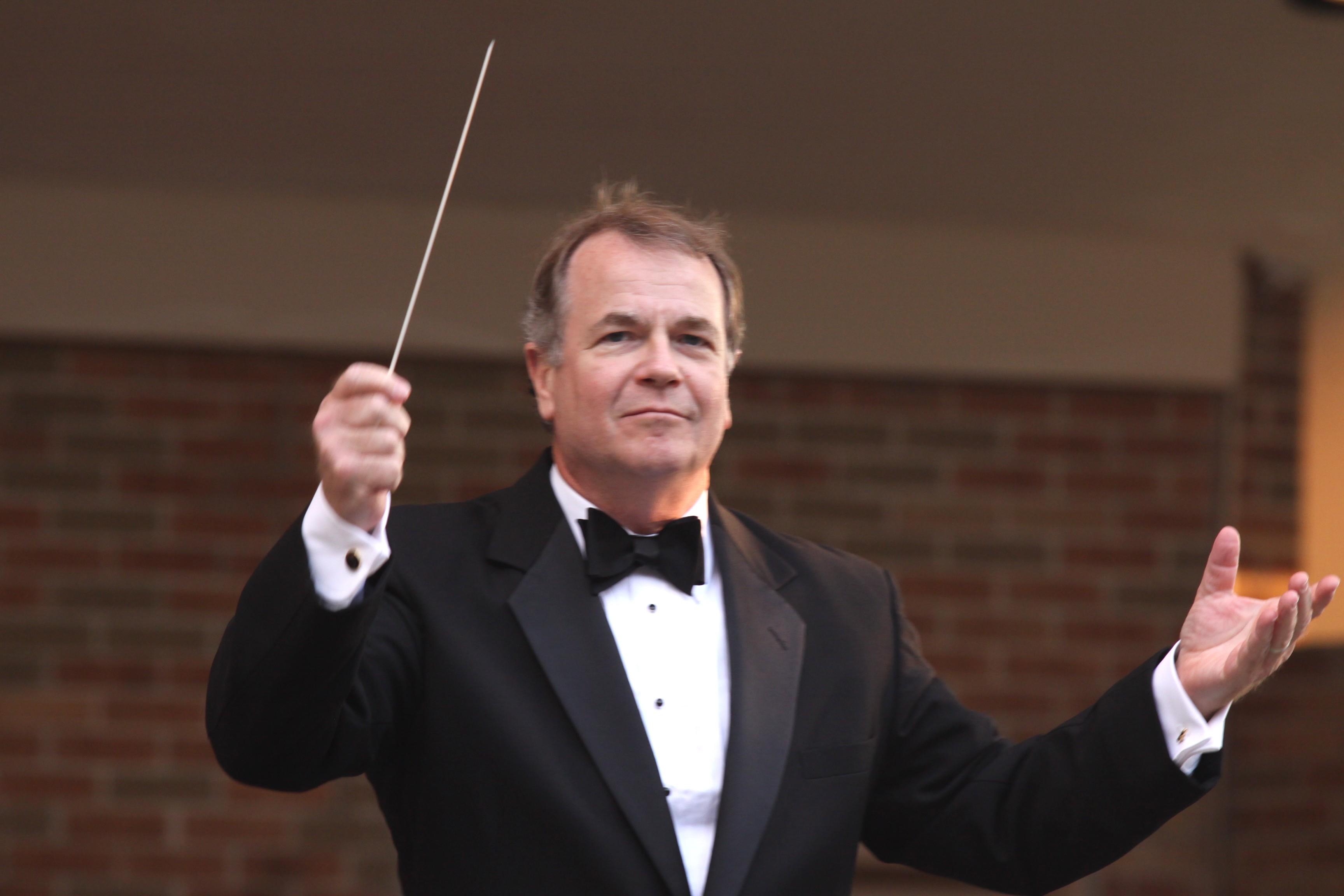 Dr Bruce Moss conducting the Wheaton Municipal Band