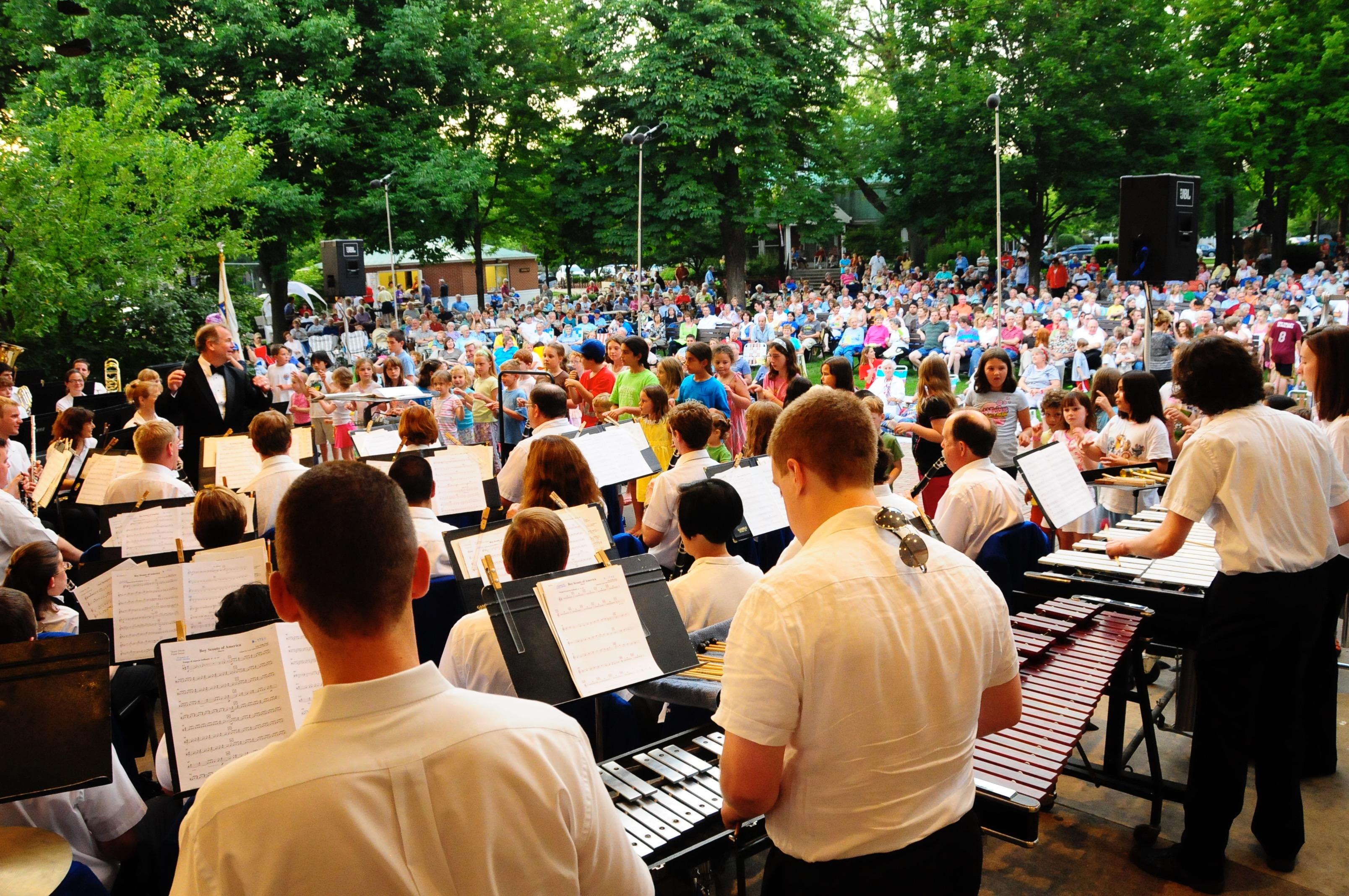 The Wheaton Municipal Band at Memorial Park