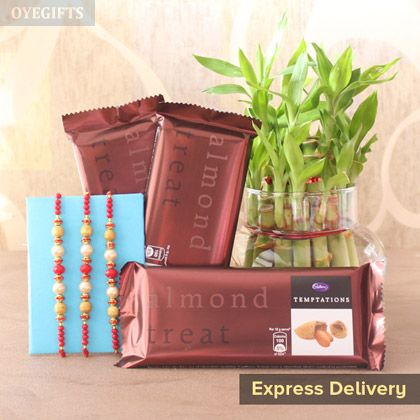 Send Rakhi to India with OyeGifts's Free Shipping and Same Day