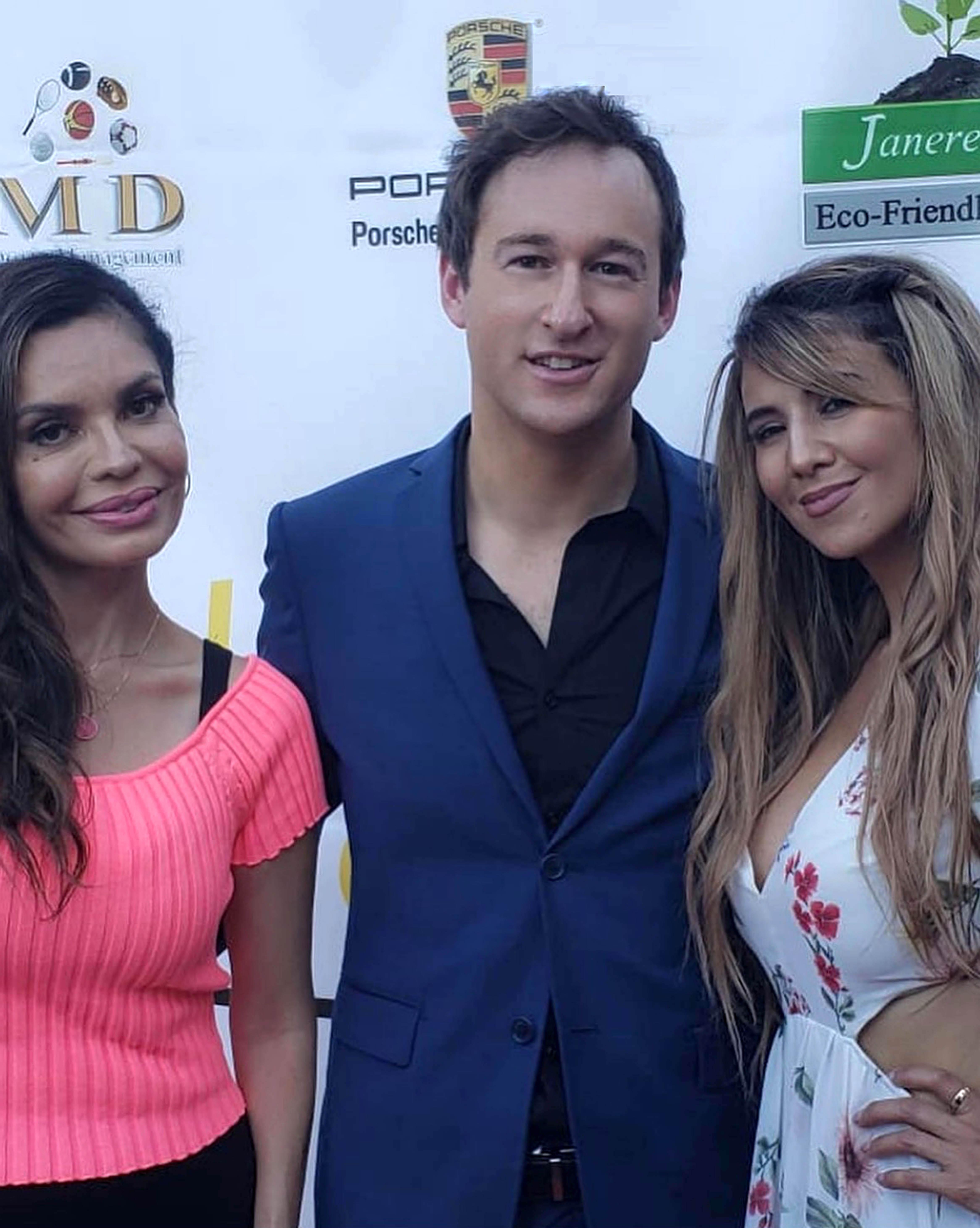 Brenda Mejia  James Pratt and Leila Ciancaglini on the Red Carpet