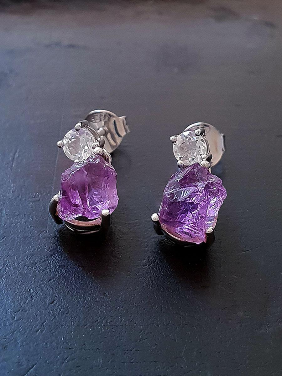 Twostone Drop Earrings