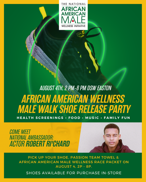 Actor Robert Richard National Ambassador for The National African American Male Wellness AAWALK