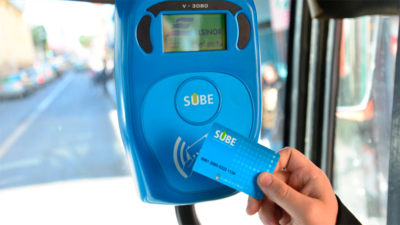Sube is the contactless smart card used across the Argentinian transport system by over 16M users for over 11M daily trips