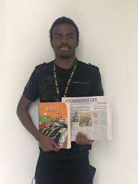 Jaylyn Hassan with his debut novel