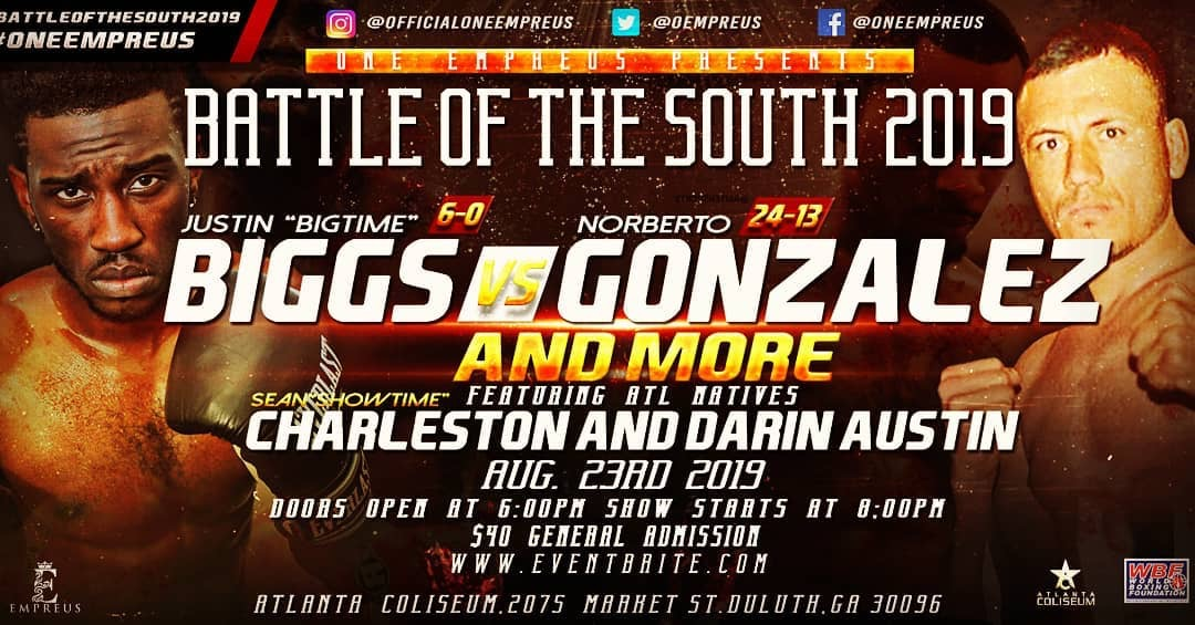 Battle of the South Friday August 23 2019 at Atlanta Coliseum