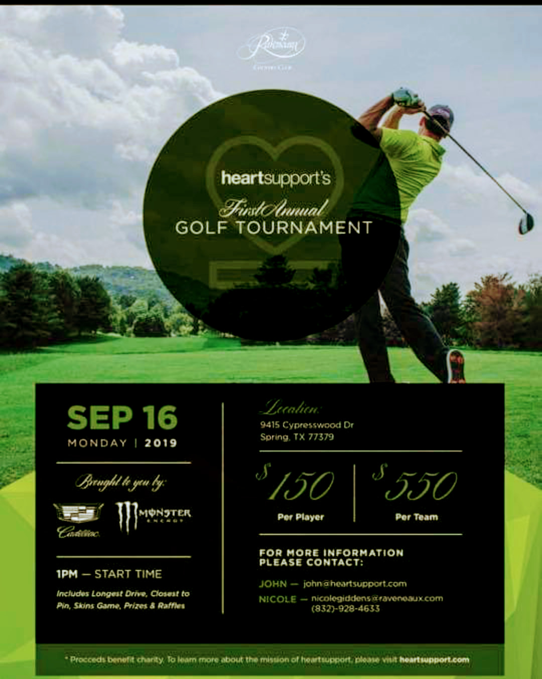 HeartSupport Charity Golf Tournament