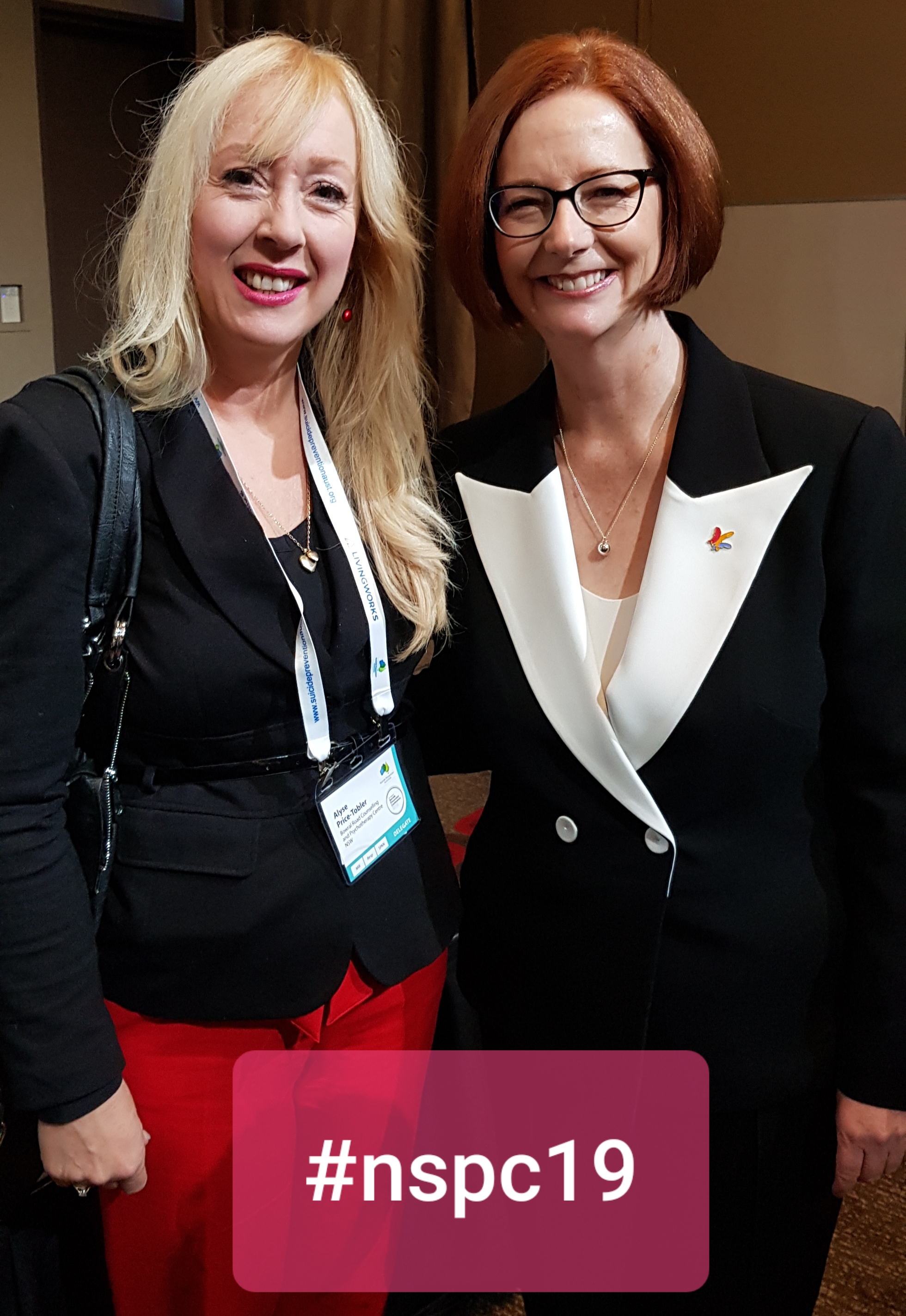 Alyse PriceTobler and former Prime Minister Julia Gillard at the SPA conference