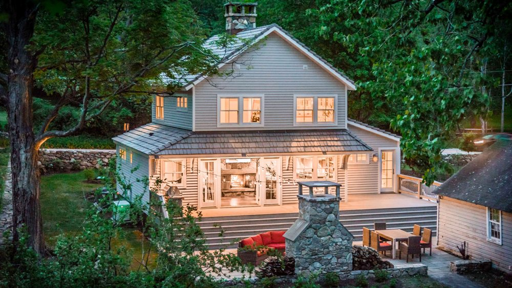 This renovated 1812 Modern Farmhouse is wellsituated in the historic hamlet of South Salem across from a picturesque horse farm