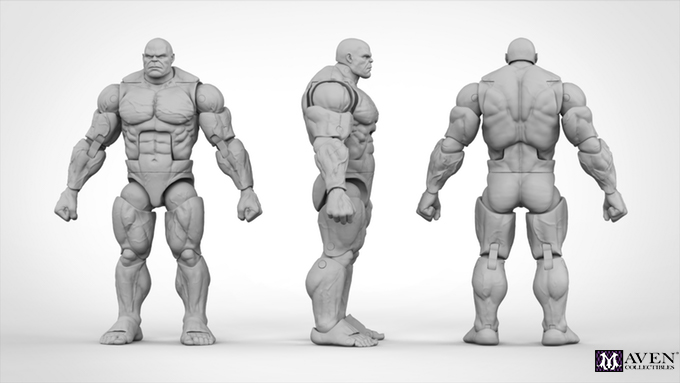 Image Courtesy of Maven Collectibles LLC  Full TITAN Body blank action figure
