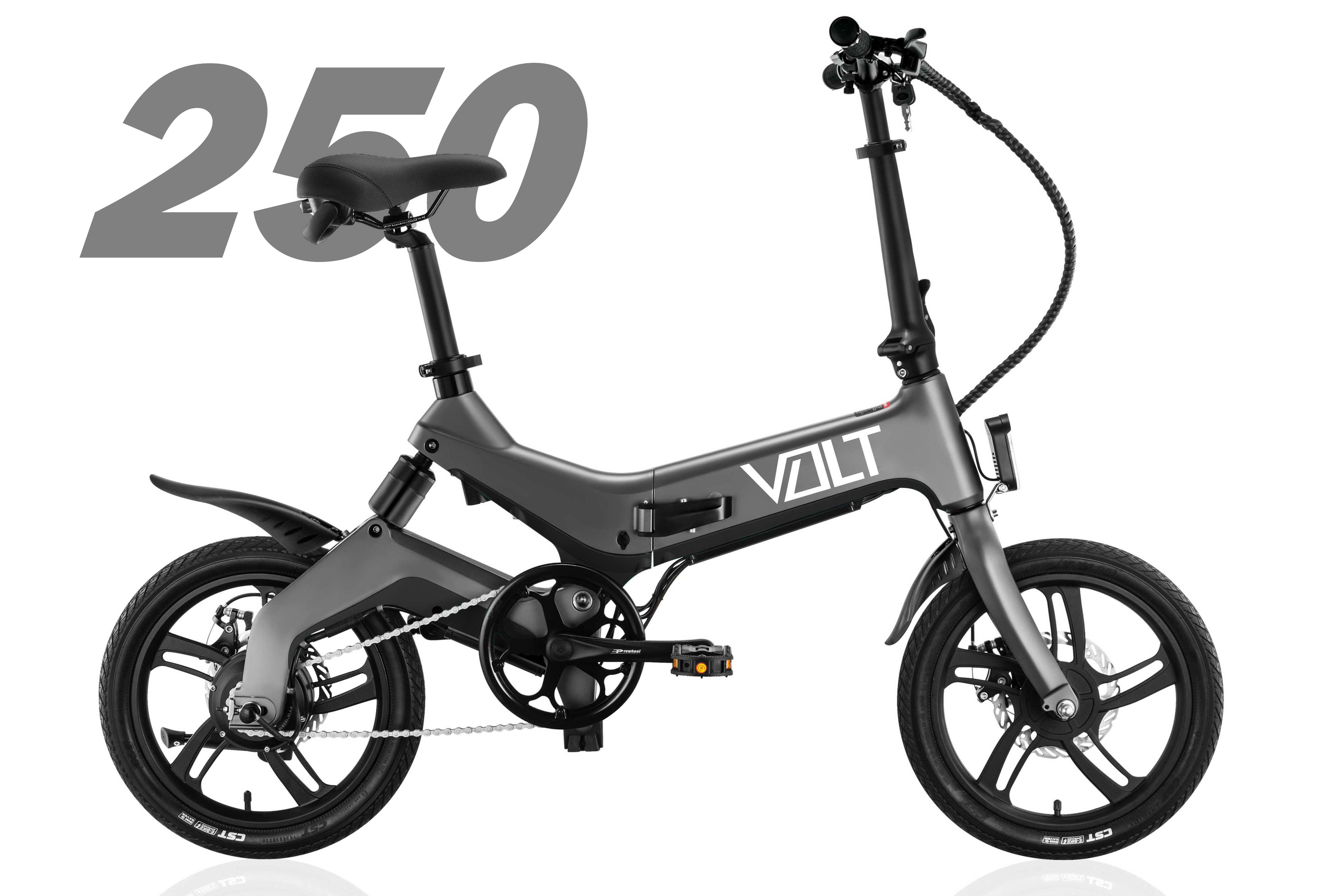 Promotional graphic of the VOLT 250 and 500 series ebikes
