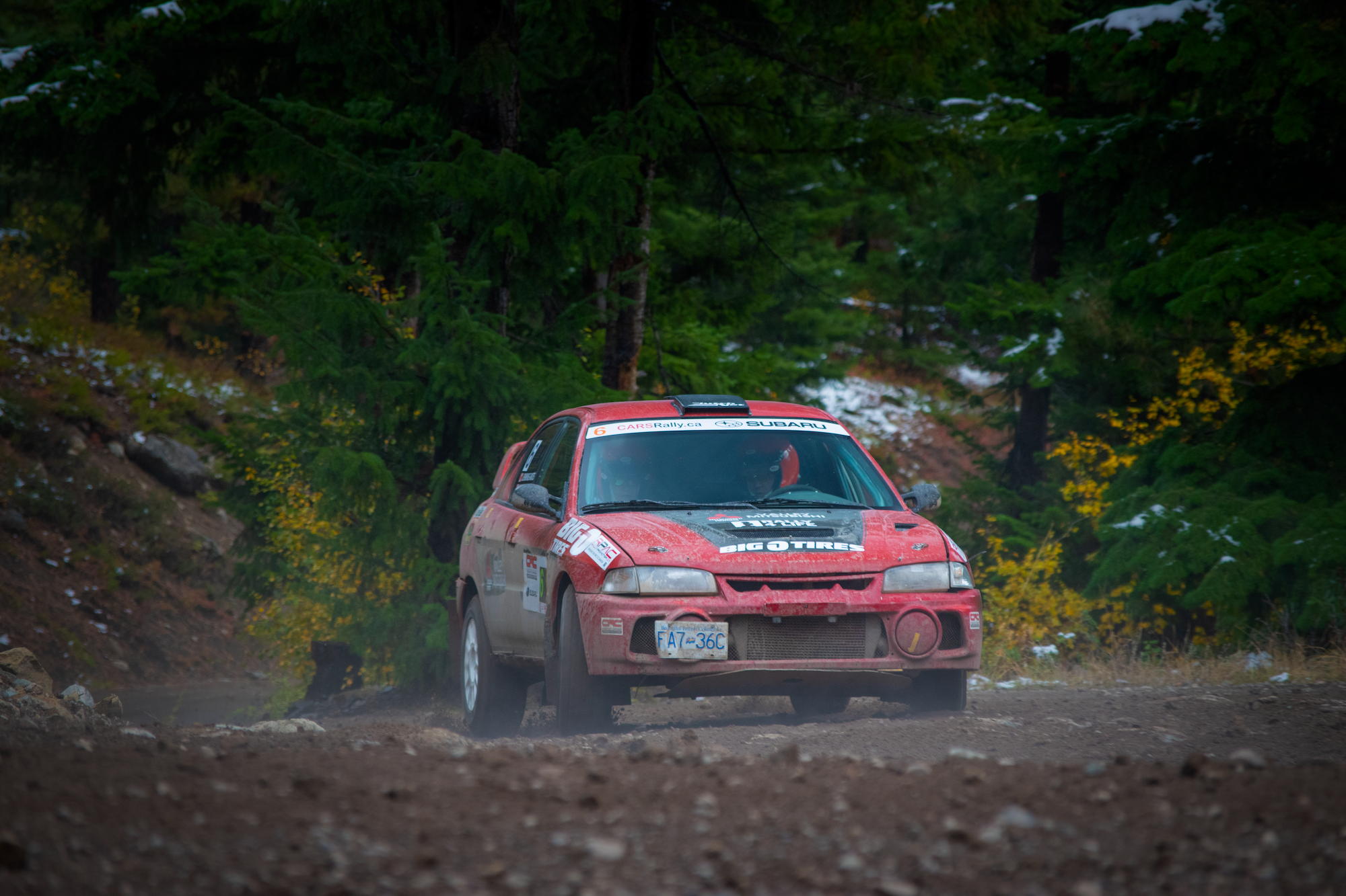Valley Mitsubishi Evo 4 at Pacific Forest Rally