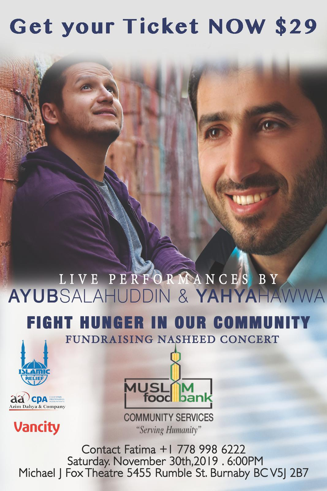 Fight Hunger Charity Concert Flyer