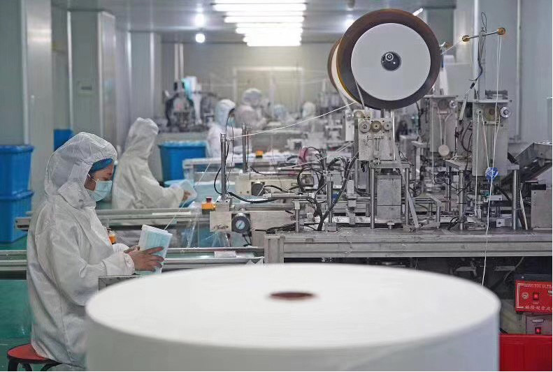 The production for Face Mask from Meditech