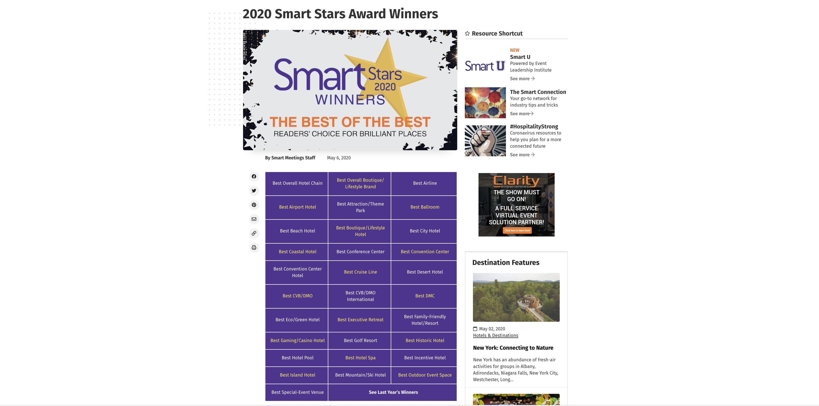 Smart Stars 2020 Winners The Best of the Best Readers