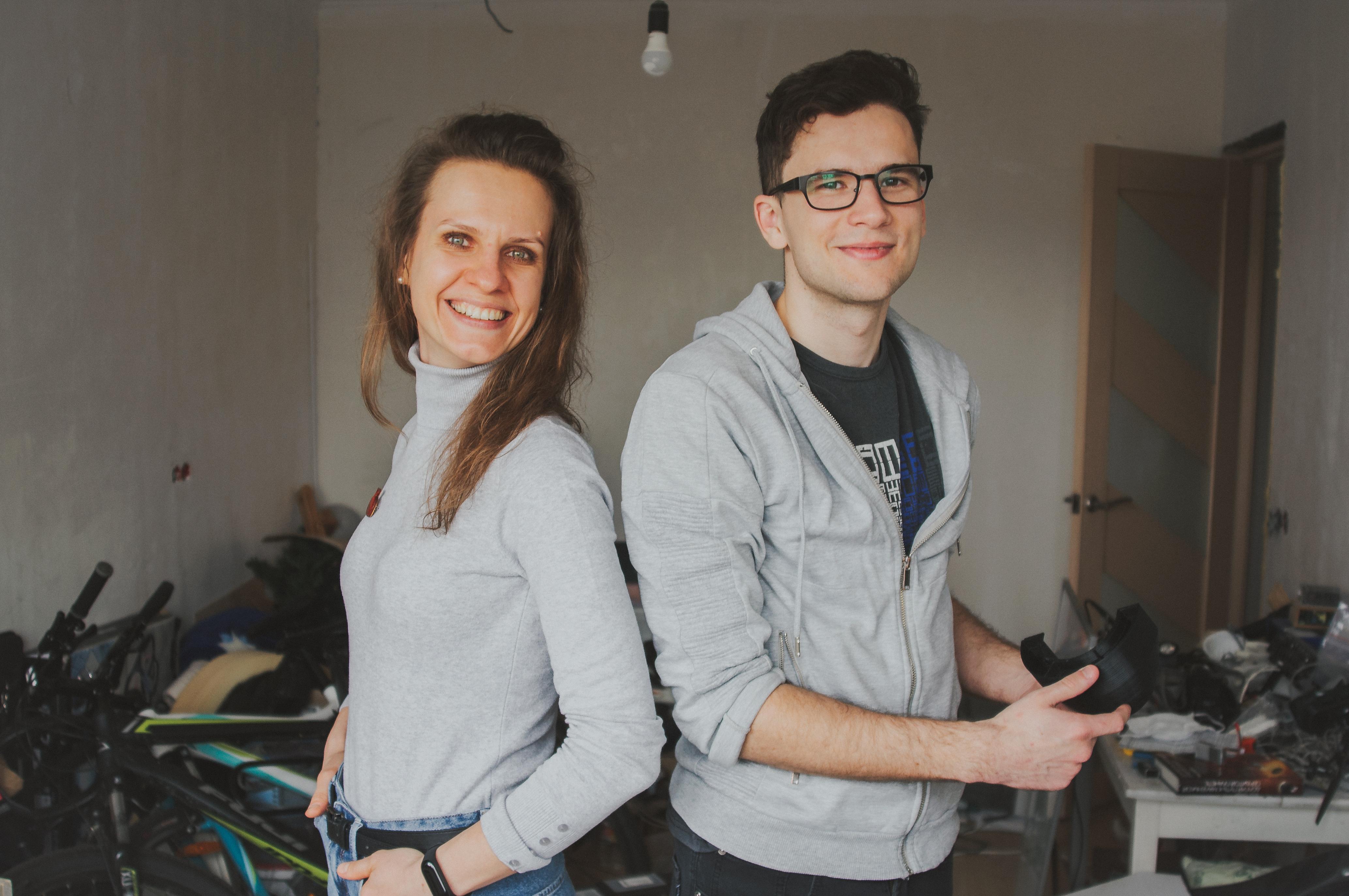 Anna Ogorodnikova and Pavel Urban Breathio Founders