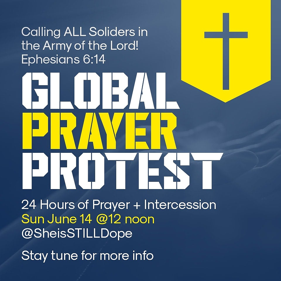 Global Prayer Protest Save the Date