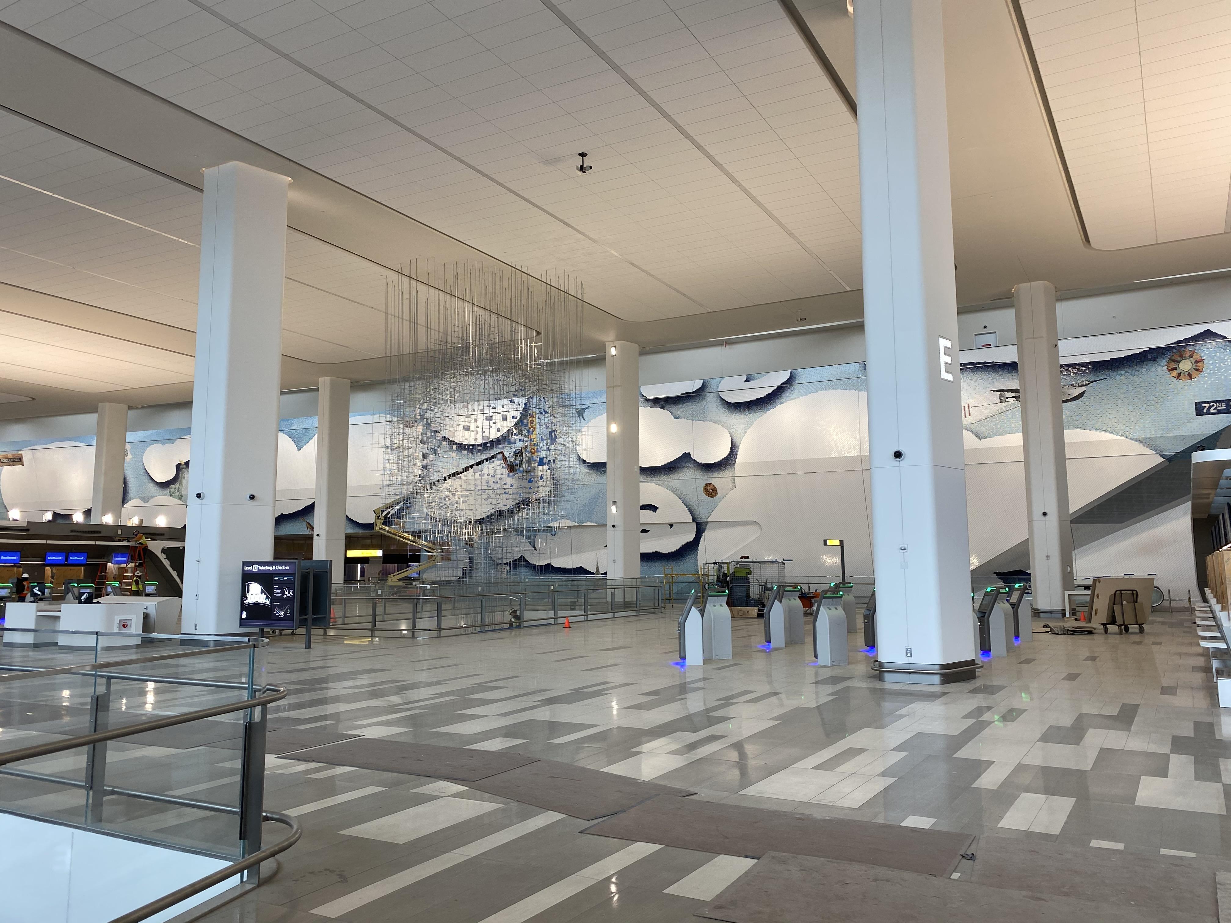 Mosaic Tile WallLaGuardia Airport