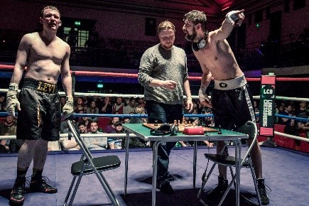Chessboxing combines the brains of chess with the brawn of boxing