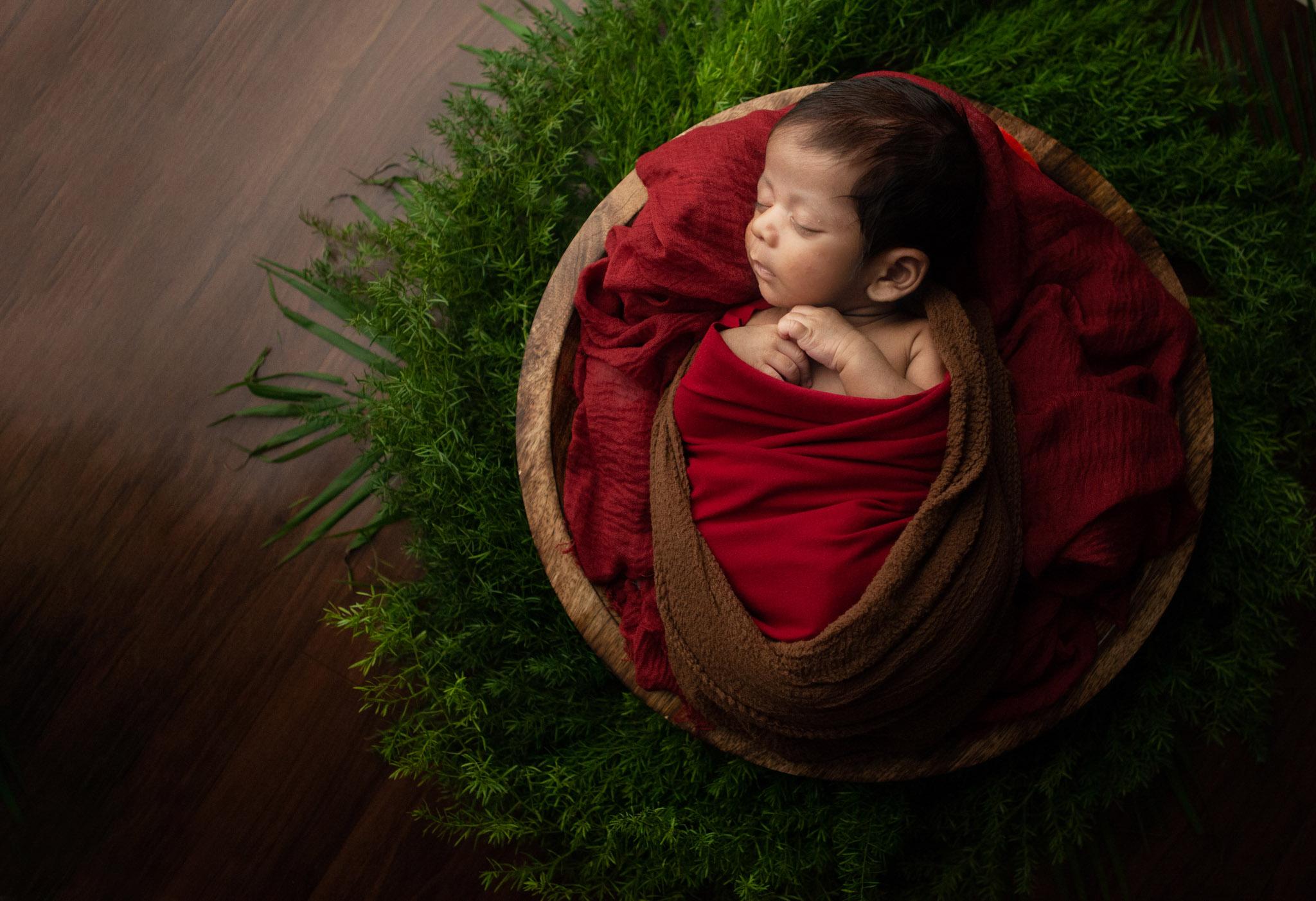 Studio newborn baby session