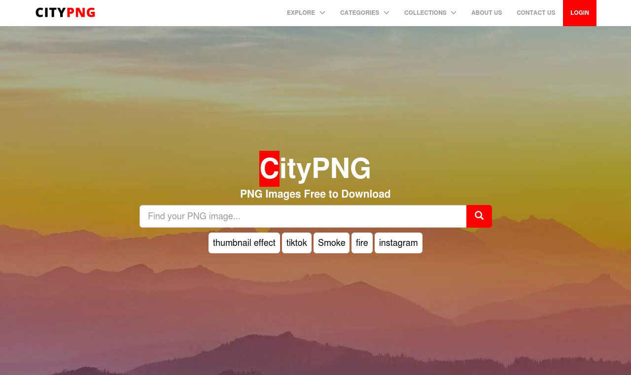Citypng Home Page
