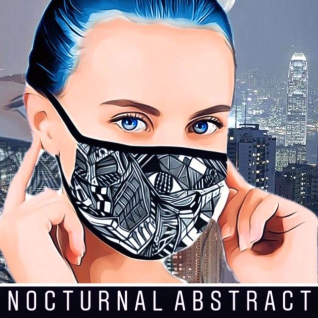 Nocturnal Abstract Mask