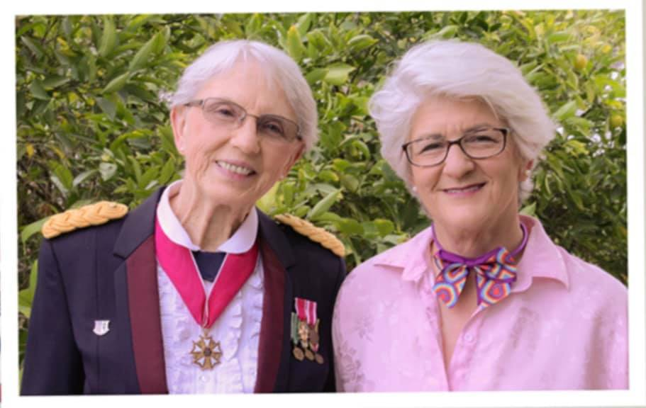 Colonel Patsy Thompson and her wife Barbara Brass
