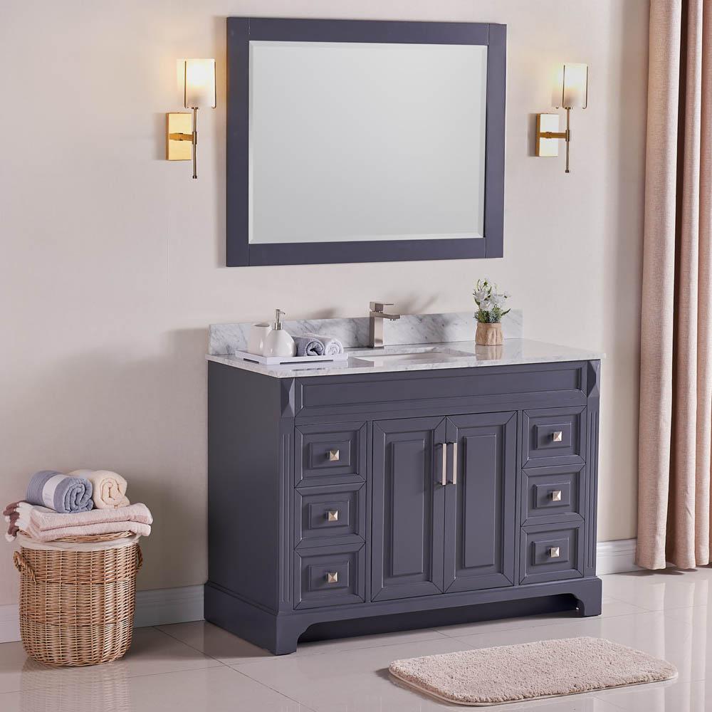 Constantia 48 Inch Bathroom Vanity Color Charcoal Gray