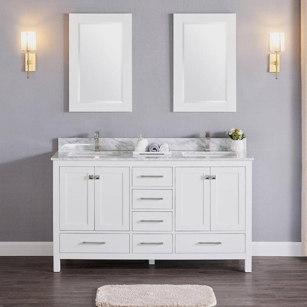 Constantia 60 Inch Double Vanity Color Matte White