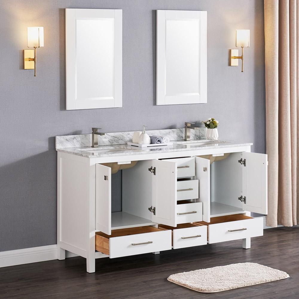 Constantia 60 Inch Double Vanity Model Color Matte White