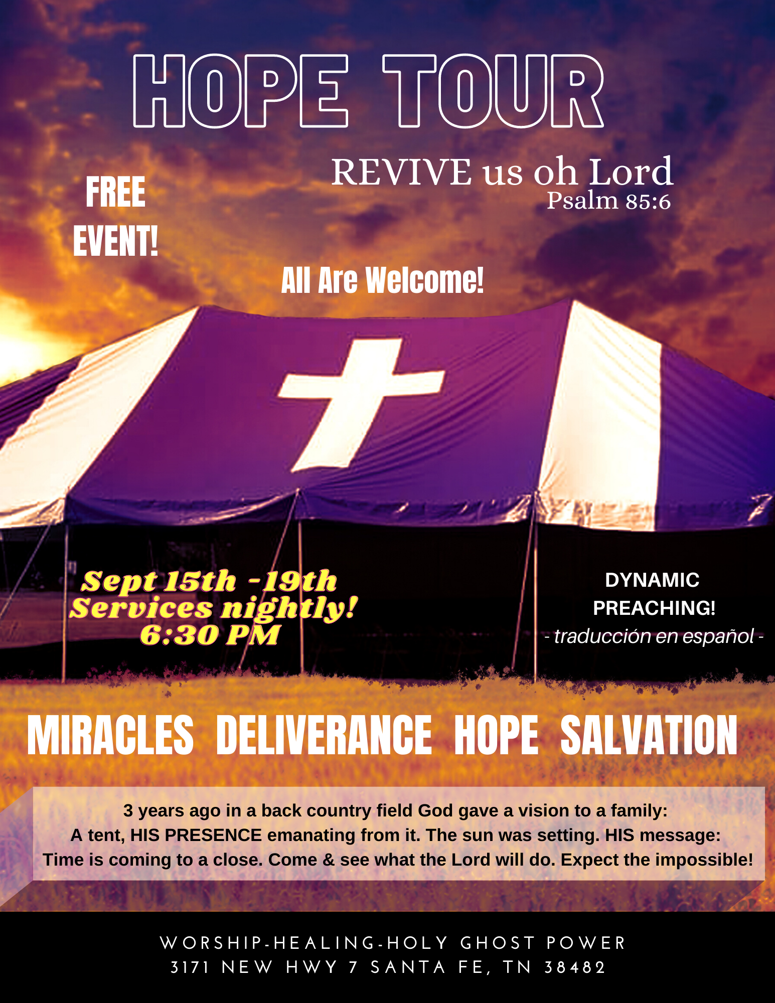Hope Tour Revival In Tennessee