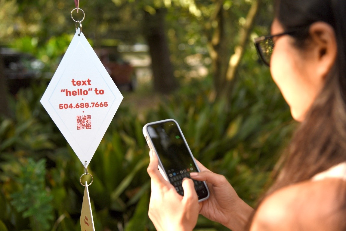 Participants will engage in text conversation with trees along the Detroit Riverfront