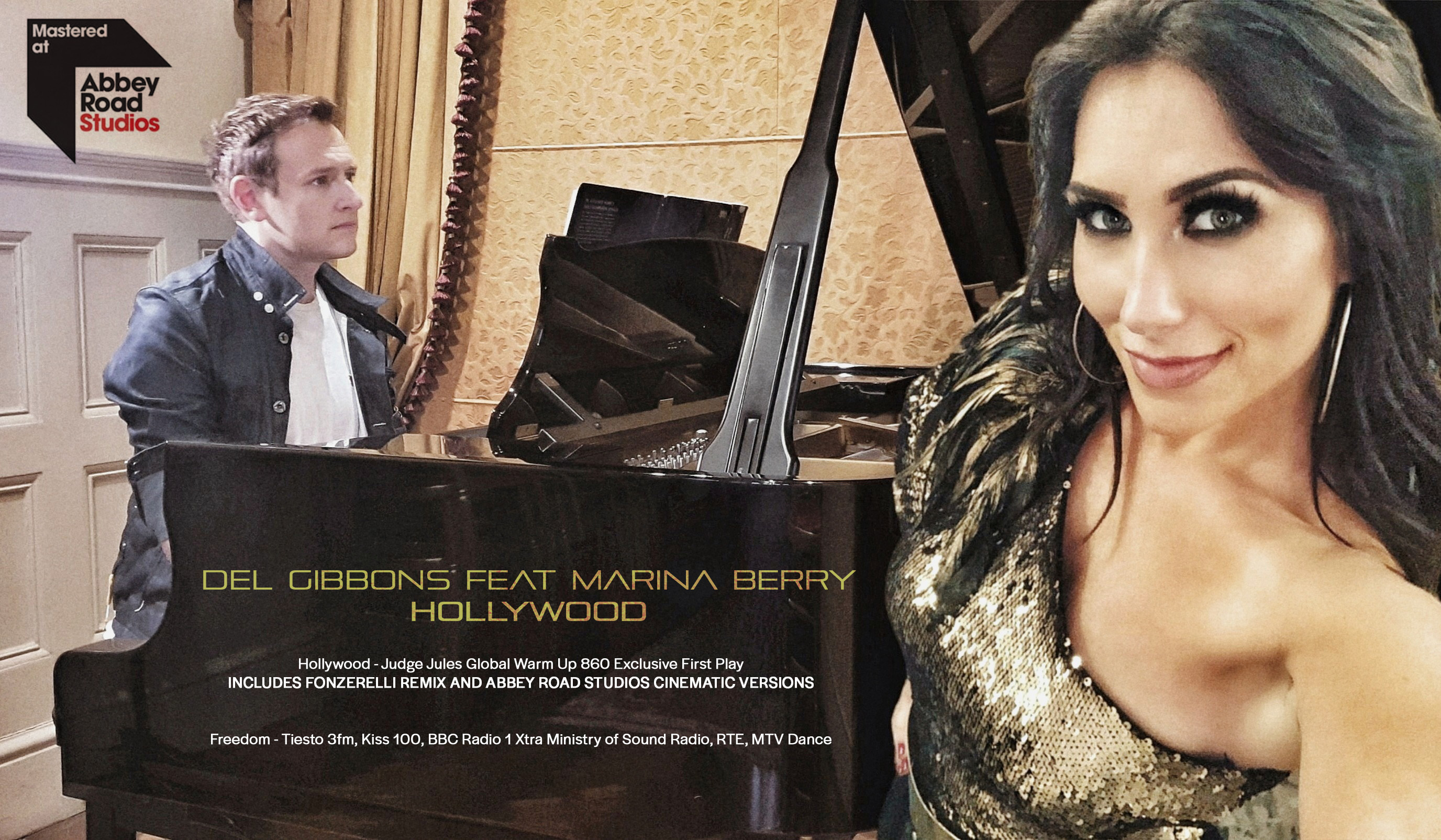 Del Gibbons Feat Marina Berry  Hollywood