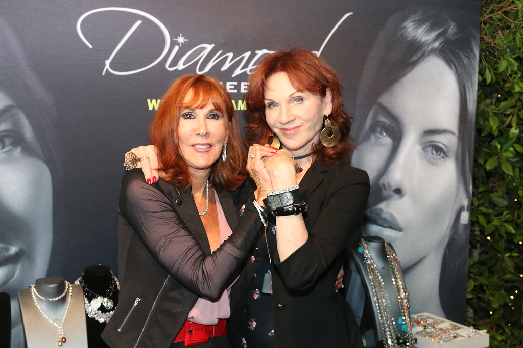 Actress Marilu Henner Wearing Diamond Veneer