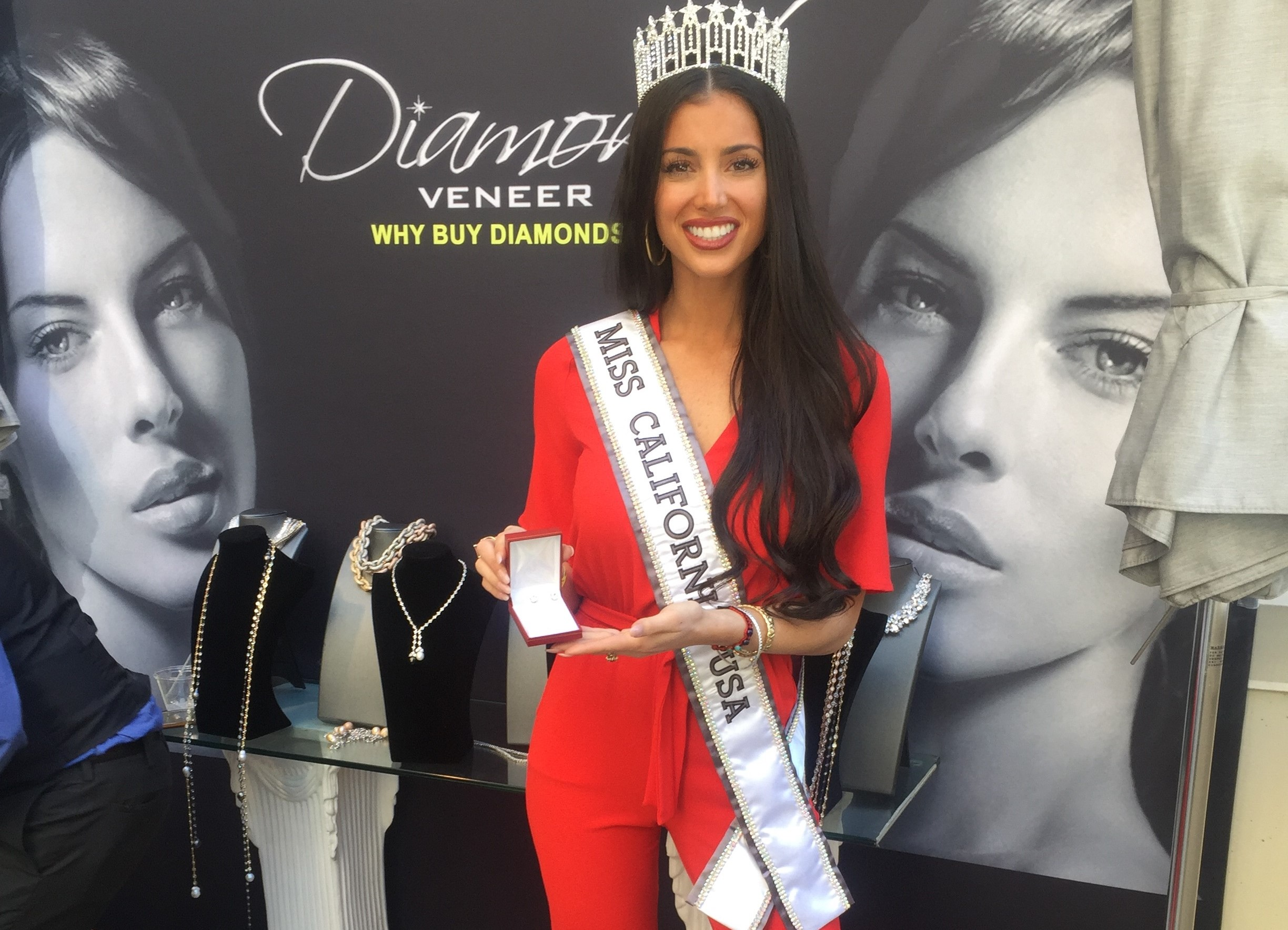 Ms California for Diamond Veneer Travel Jewelry