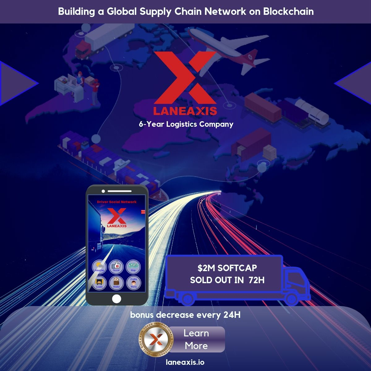 LaneAxis Building Tokenized Driver Social Network To