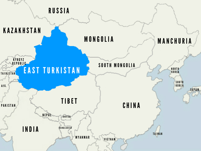 Map of East Turkistan