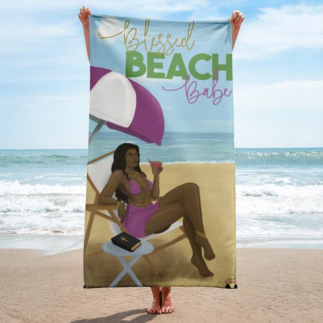 Blessed Beach Babe Beach Towel