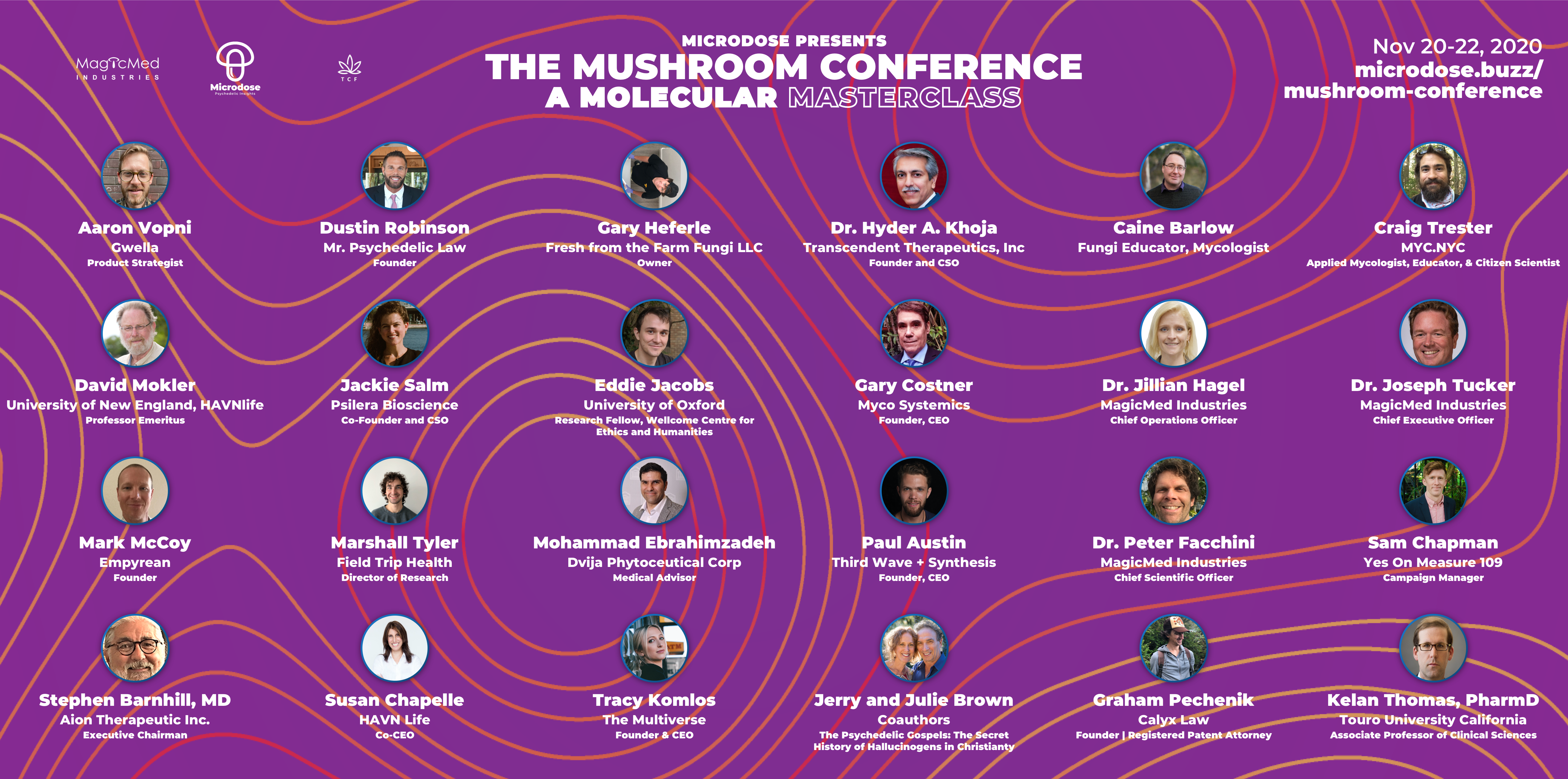 Mushroom Conference Speakers
